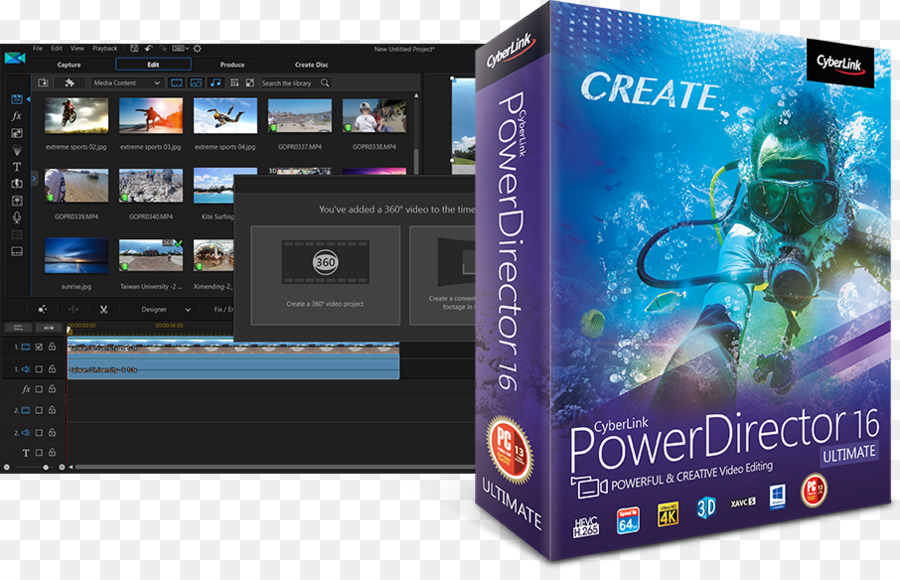 cyberlink powerdirector 16 free download full version with crack for pc
