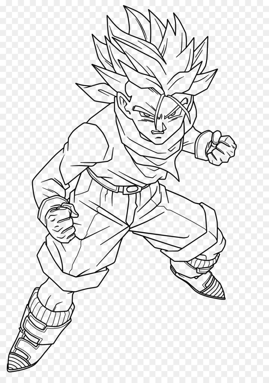Gohan Line Art Vegeta Goku Trunks Goku Png скачать 1200
