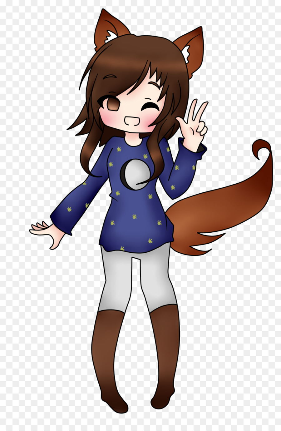 minecraft brown hair skin fox papercraft png download 923 1408