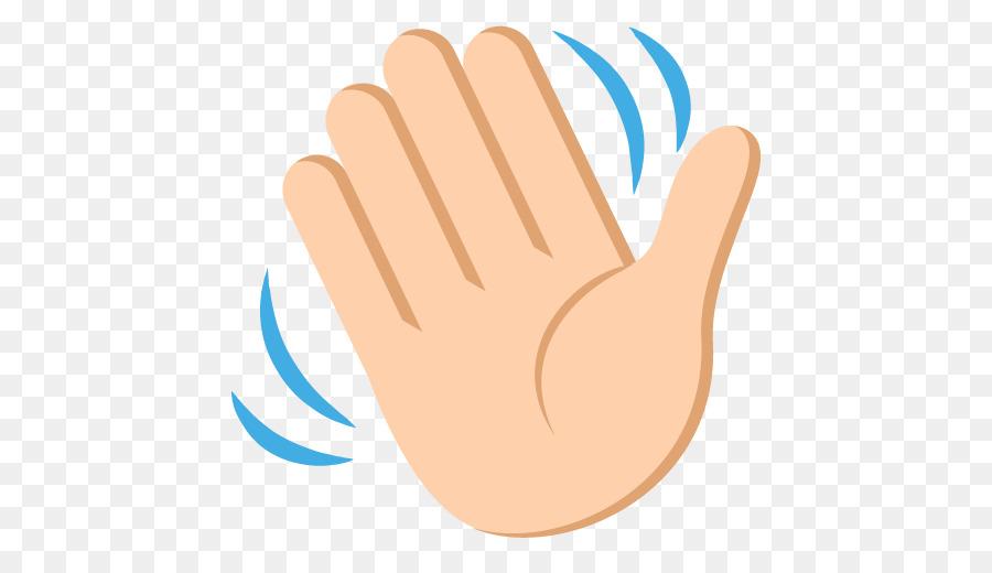Hand-waving Wave Emoji Clip art - wave png download - 512 ...