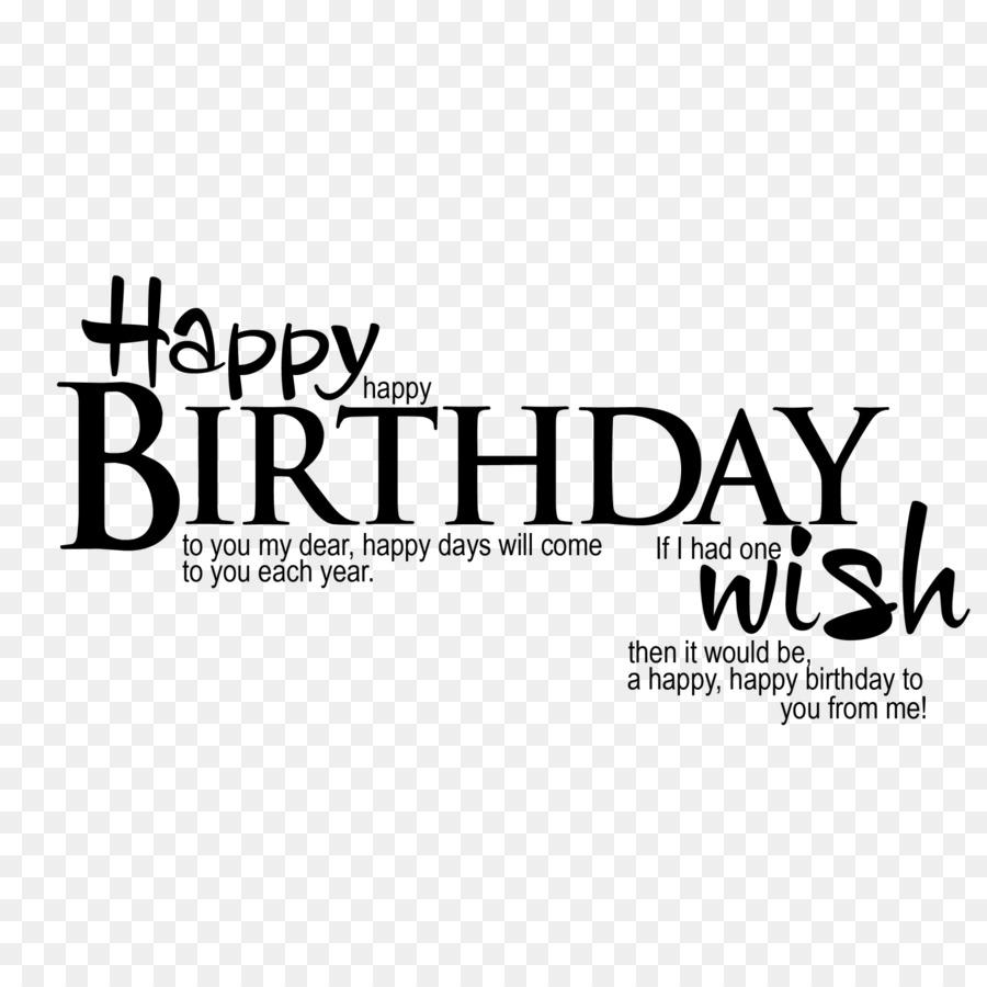 Wish Birthday Greeting Text Logo PNG