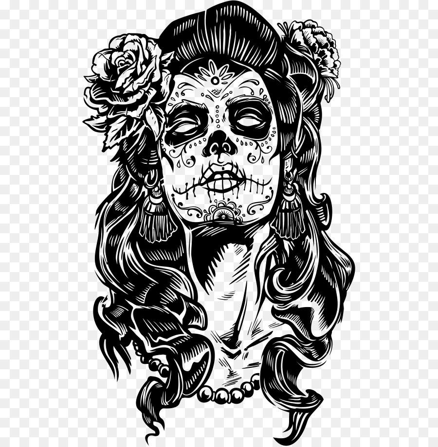 foto de La Calavera Catrina Drawing Day of the Dead skull png download 561*919 Free Transparent La