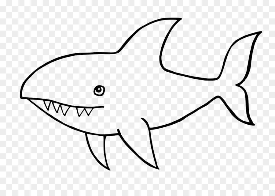 Requiem tiburones en blanco y Negro de Gran tiburón blanco de Dibujo ...