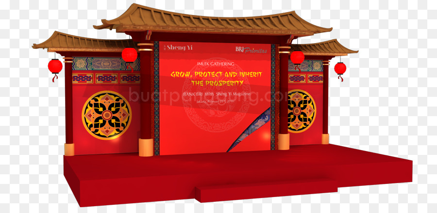 Chinese New Year Stage Chinese Indonesians Stage Backdrop Png