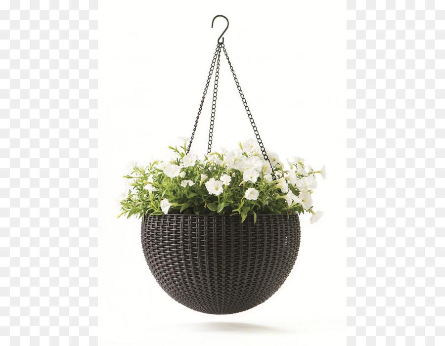 Hanging Basket Flowerpot Keter Plastic Garden Flwers Png 700 Free Transpa
