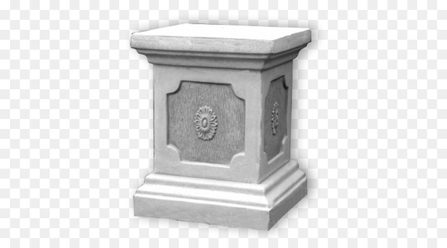 Column Vase Socle Stone Garden Column Png Download 500500