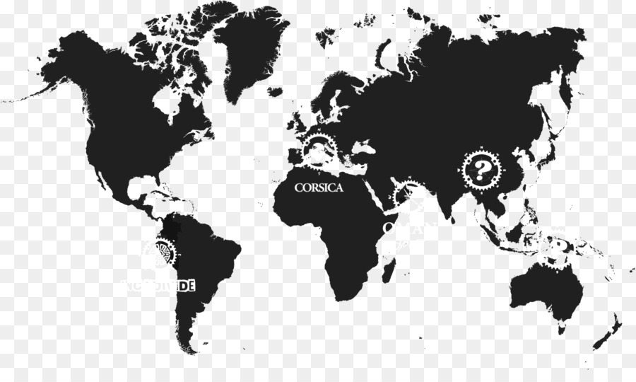 World map Stencil Art - world map png download - 1410*820 - Free ...