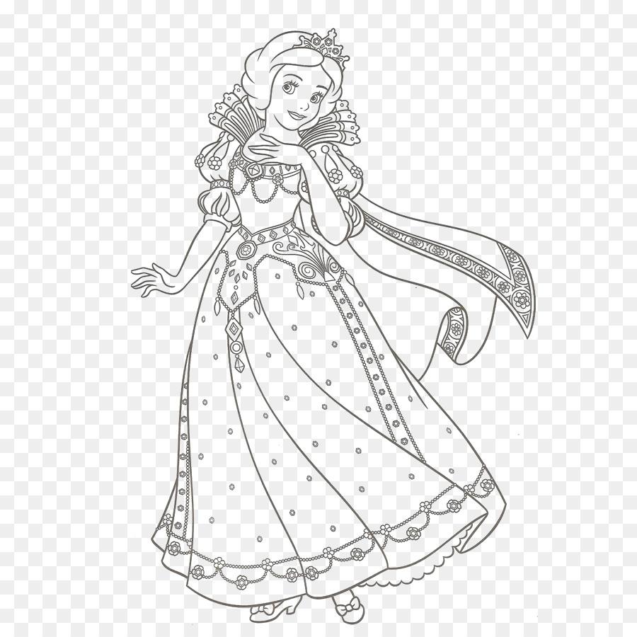 Coloring Book Ariel Disney Princess Snow White Disney Princess Png