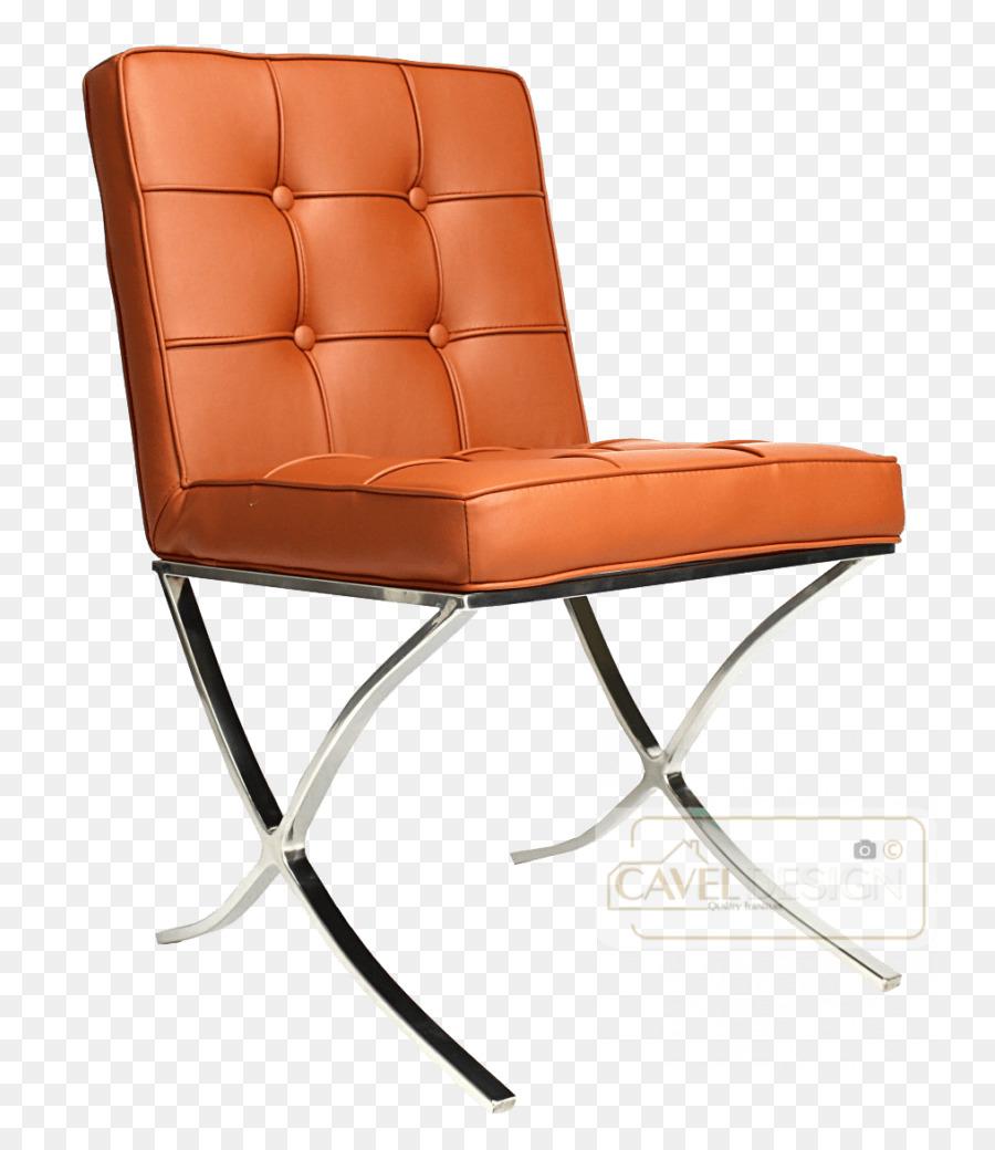 Exceptionnel Barcelona Chair Cognac Eetkamerstoel Fauteuil   Cognac