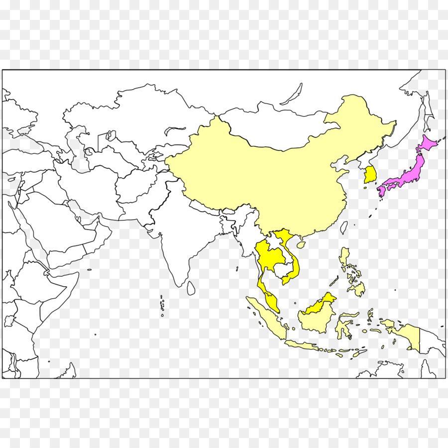 Southeast Asia Blank map World map - map png download - 1200*1200 ...