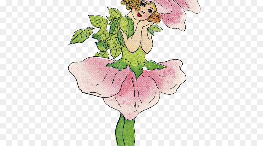 Hada de diseño Floral Dibujo de las crías de los Animales para ...