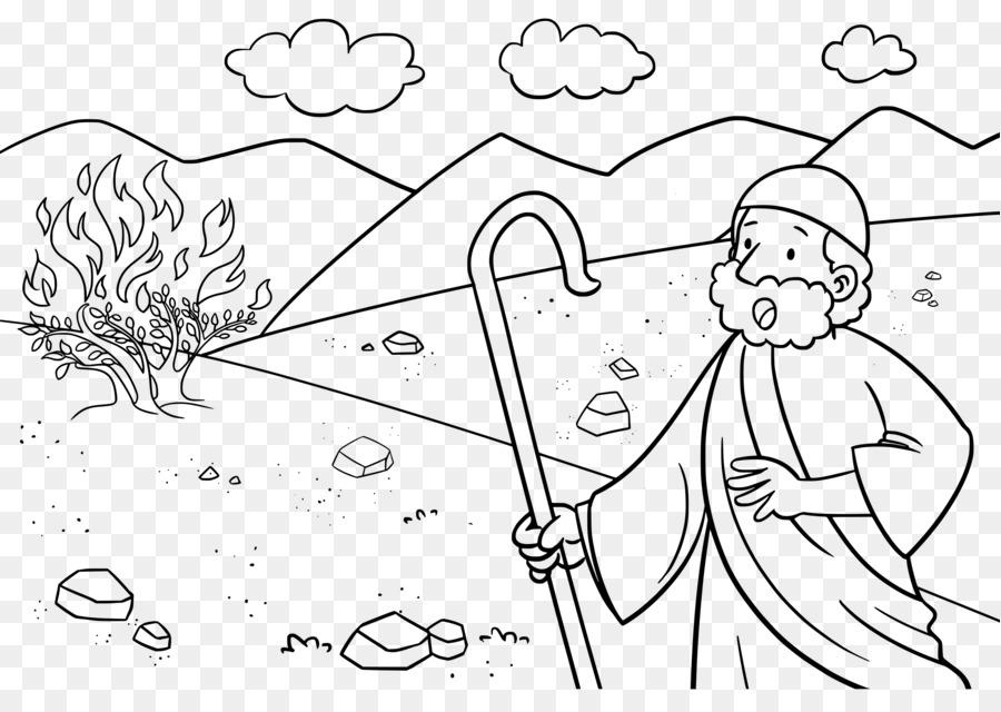 Historia de la biblia de la zarza Ardiente libro para Colorear de ...