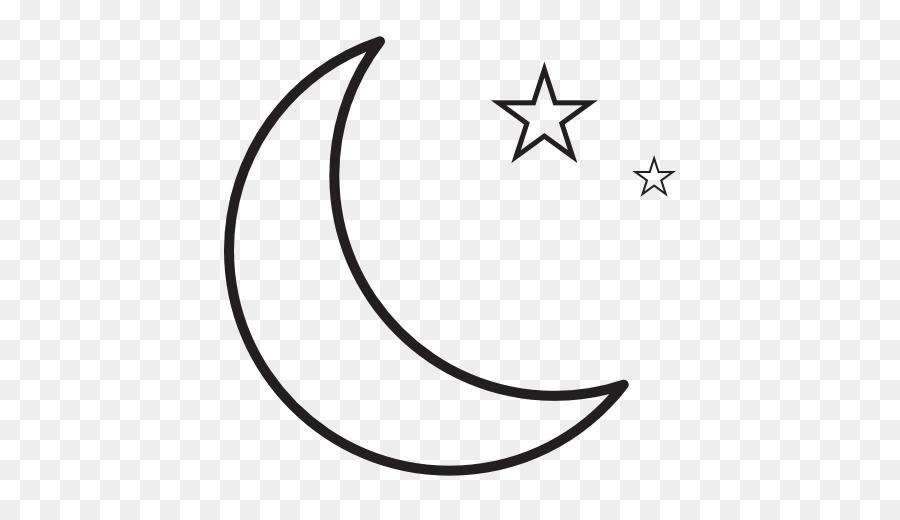 Stella e Luna crescente Disegno  luna 512 512 Png