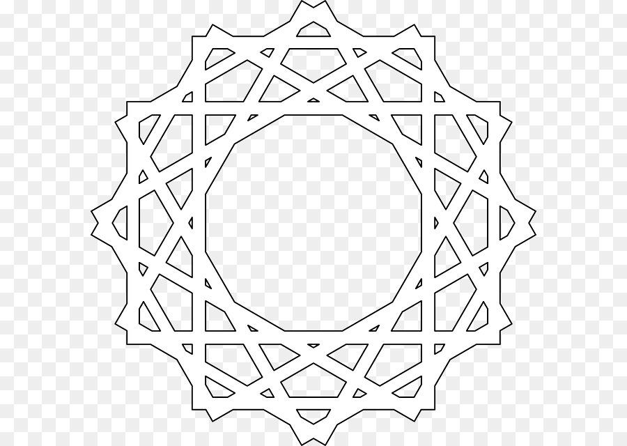 Islamische Geometrische Muster Ausmalbild Mandala Muster Islam Png