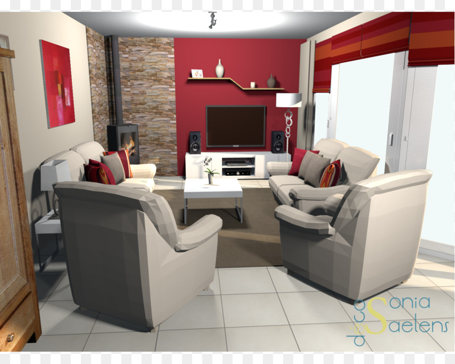 family room wall furniture red house png download 1500 1199