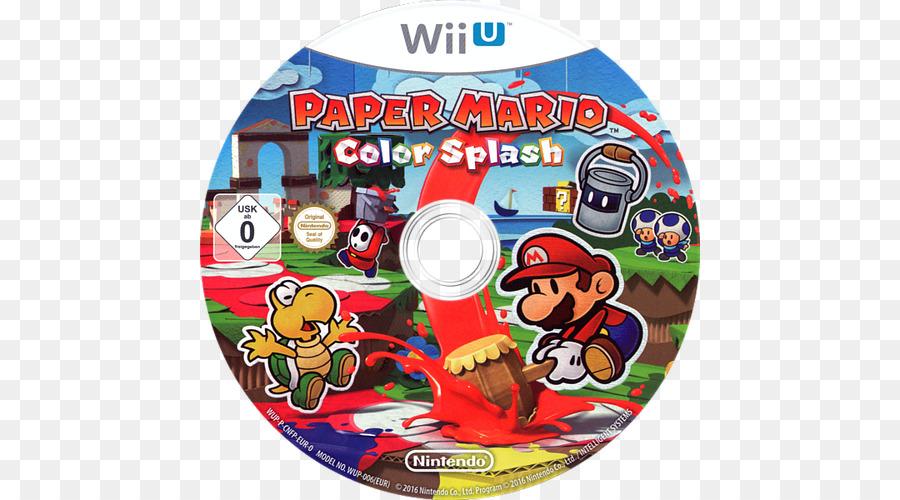 wii u paper mario color splash nintendo switch nintendo png