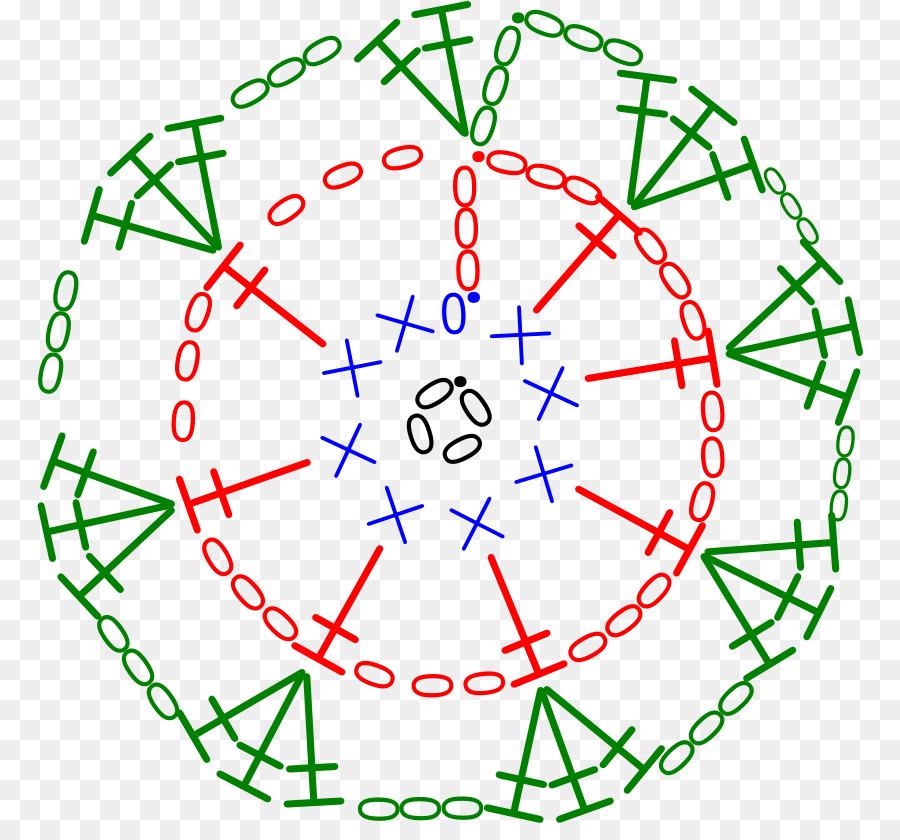 Crochet Diagrama Motivo Patrón De La Puntada - símbolo Formatos De ...