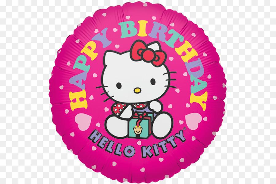 Ballon Hello Kitty Happy Birthday