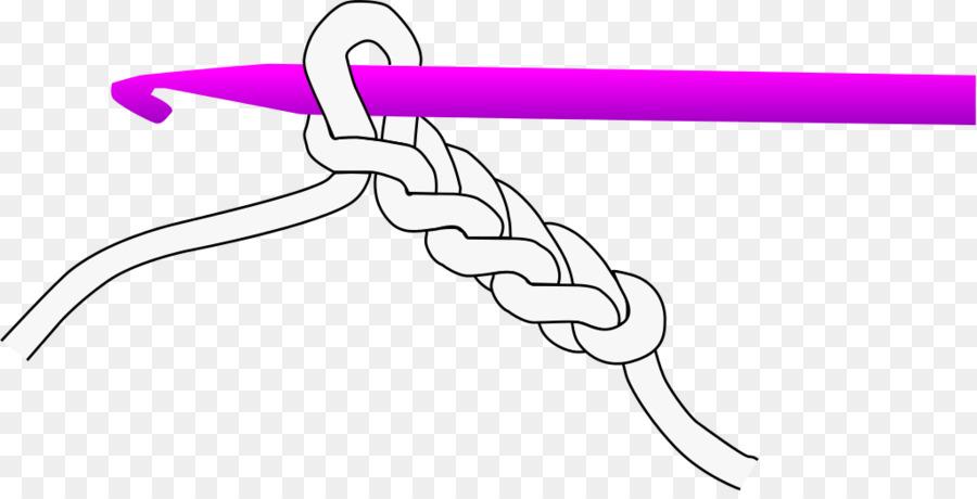 Aguja de ganchillo puntada de Cadena de Tejer - crochet bufanda ...