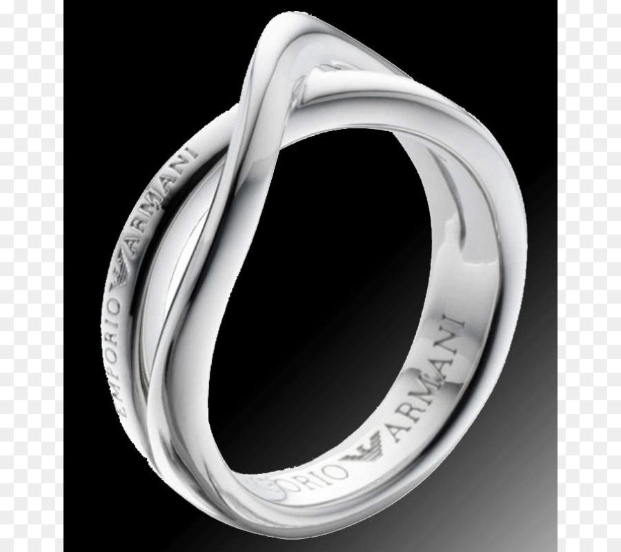 Wedding Ring Armani Jewellery Silver