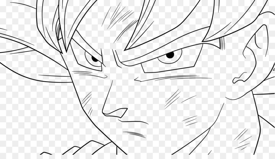 Goku Vegeta Line art Frieza Super Saiyan - goku png download - 1191 ...