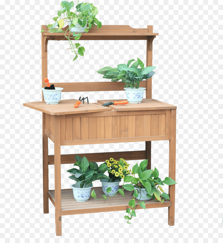 Table Shelf Potting Bench Garden   Garden Work