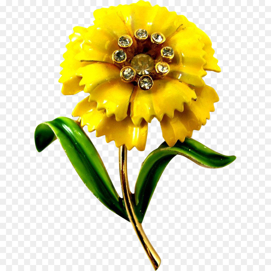Common Sunflower Carnation Yellow Brooch Flower Png Download 960