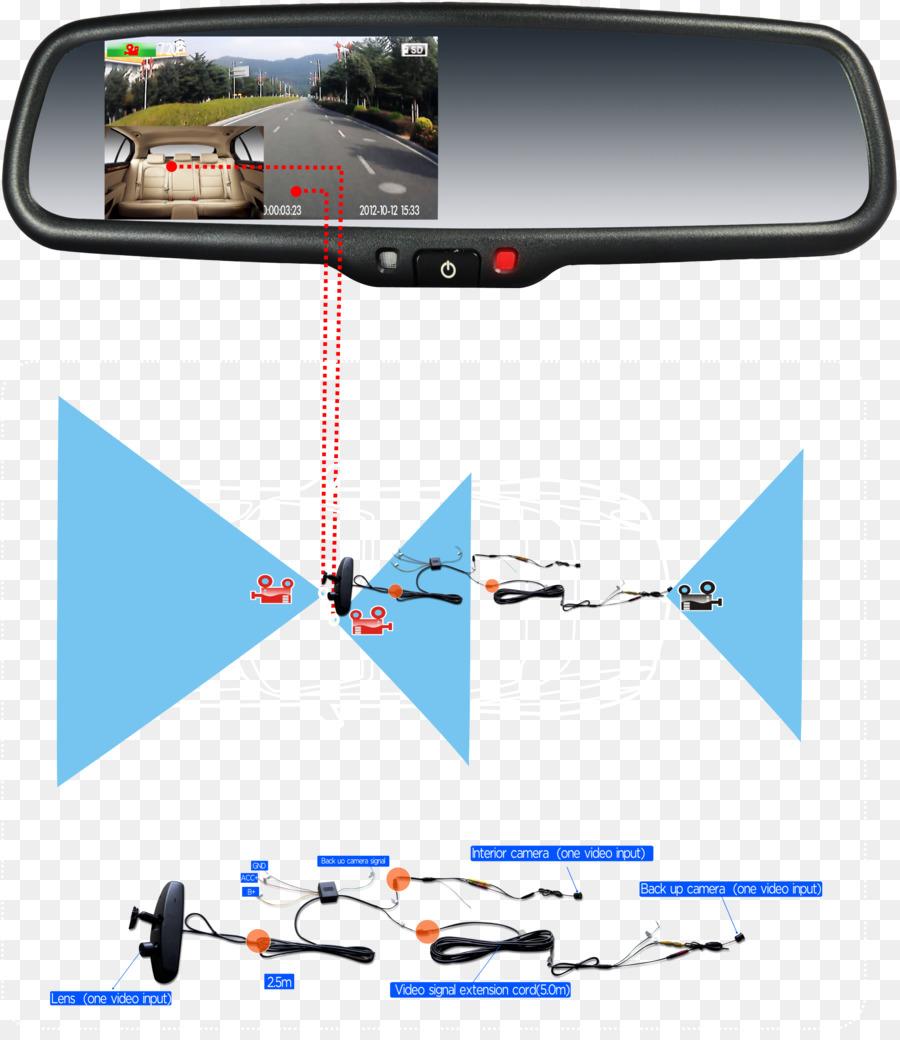 Car Backup camera Dashcam Rear-view mirror - car
