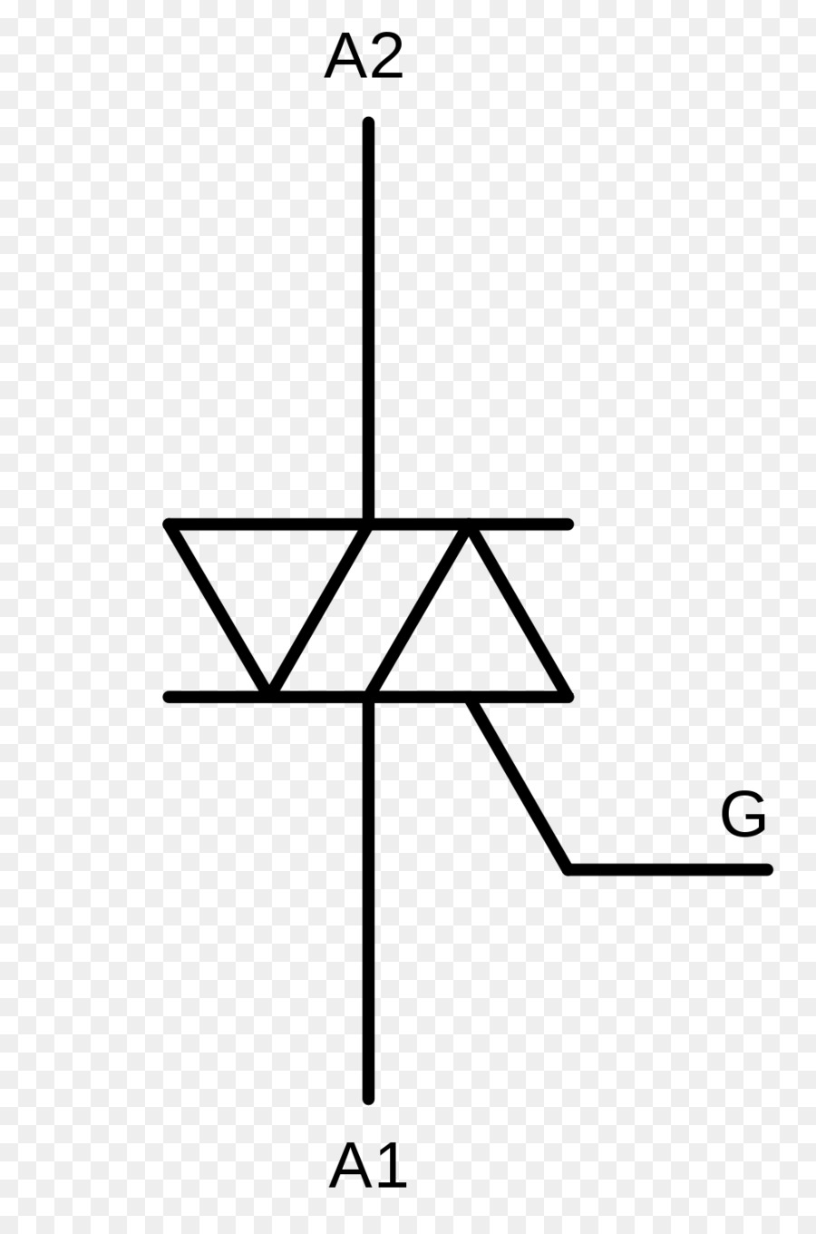 Solid-state relay Electronic symbol TRIAC Solid-state electronics - symbol
