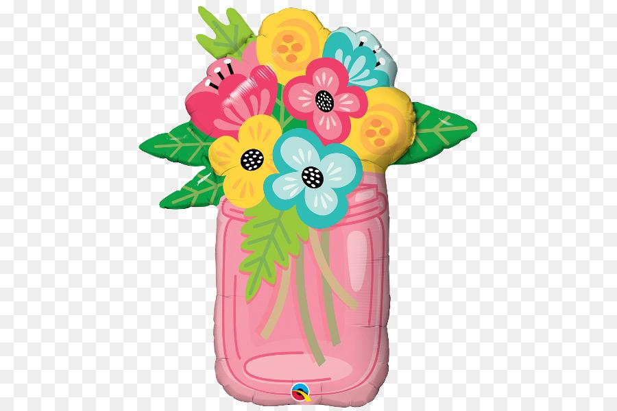 Gas balloon Flower bouquet Jar - balloon png download - 600*600 ...