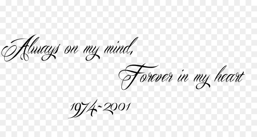 Always On My Mind Forever In My Heart Tattoo Logo Always And