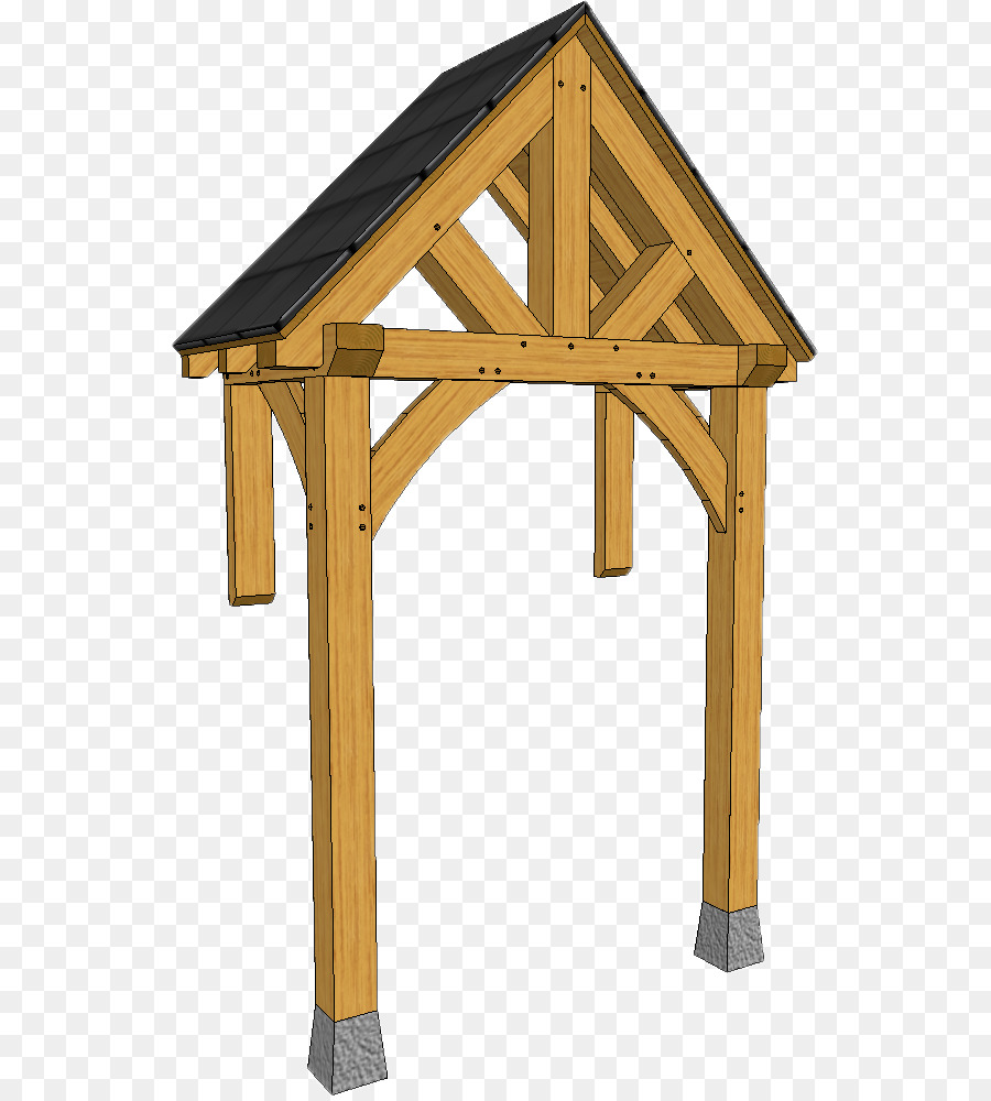 King post Truss Timber framing Shed - wood png download - 587*996 ...