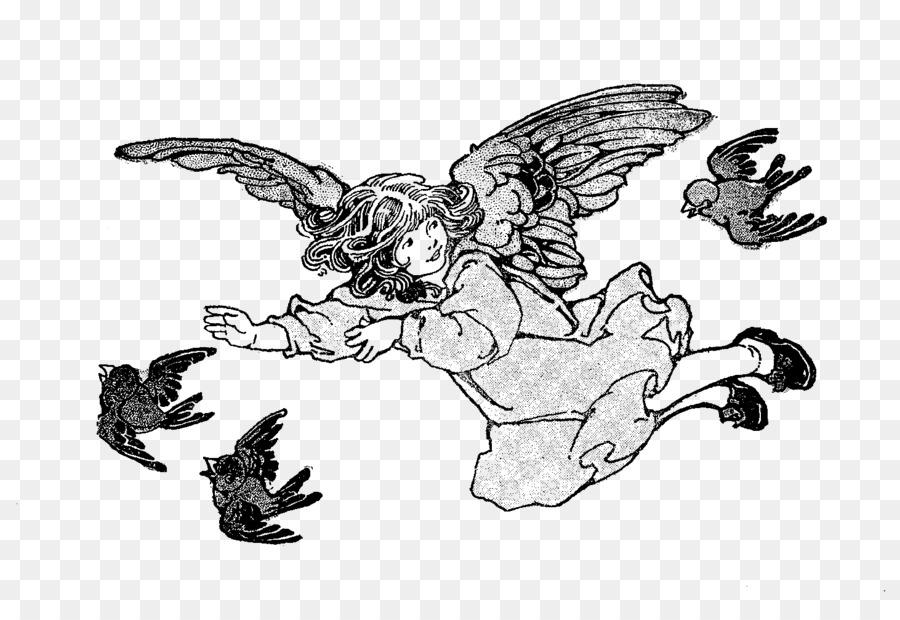 Línea de arte en artes Visuales de dibujos animados Clip art - ángel ...