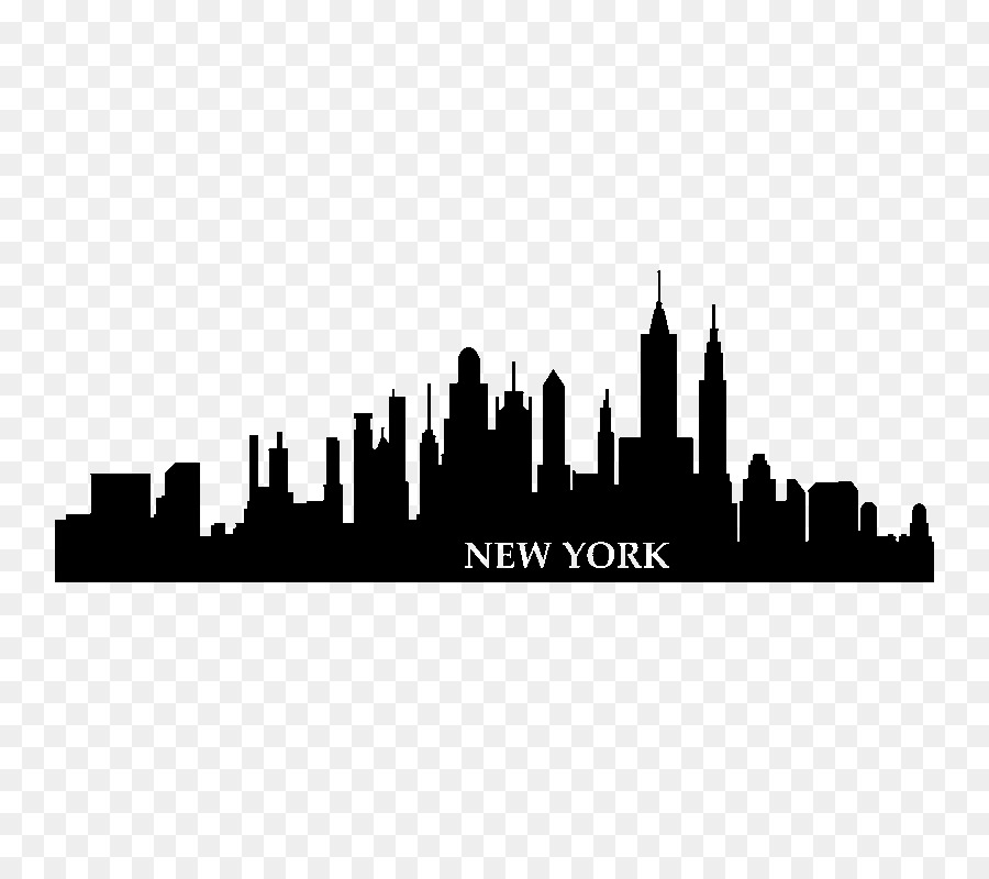 New York City Wall Decal Skyline Sticker Building Png Download