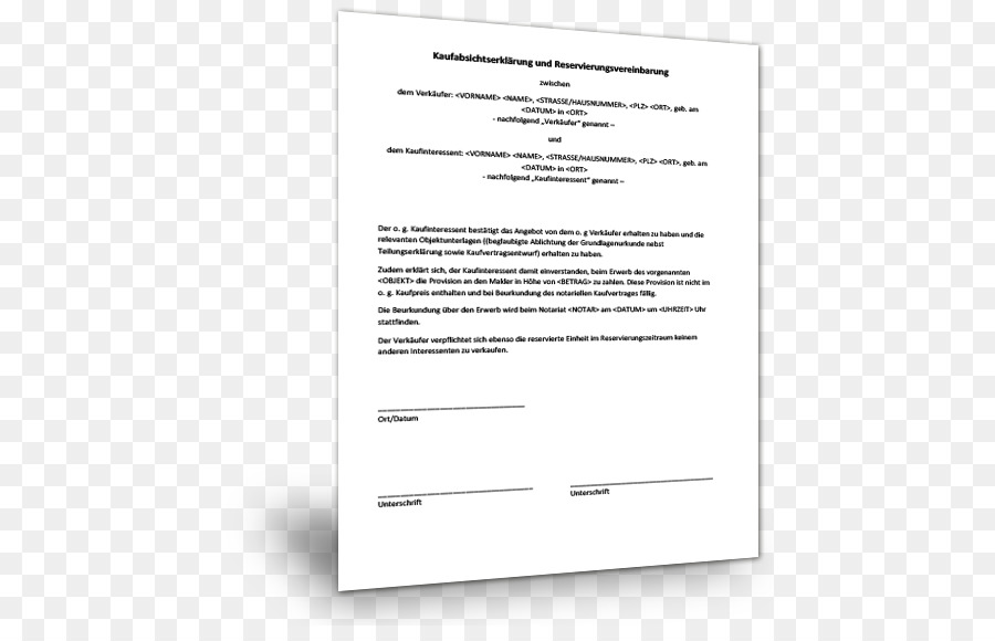 contingent contracts document contract of sale notary muster - Kaufabsichtserklarung Muster
