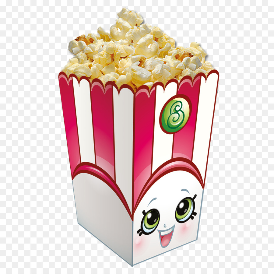 Shopkins popcorn. Birthday party background png