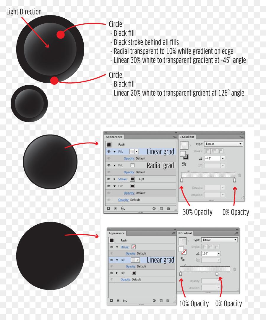 Resumen De La Plantilla De La Luz Illustrator - botón de efecto de ...