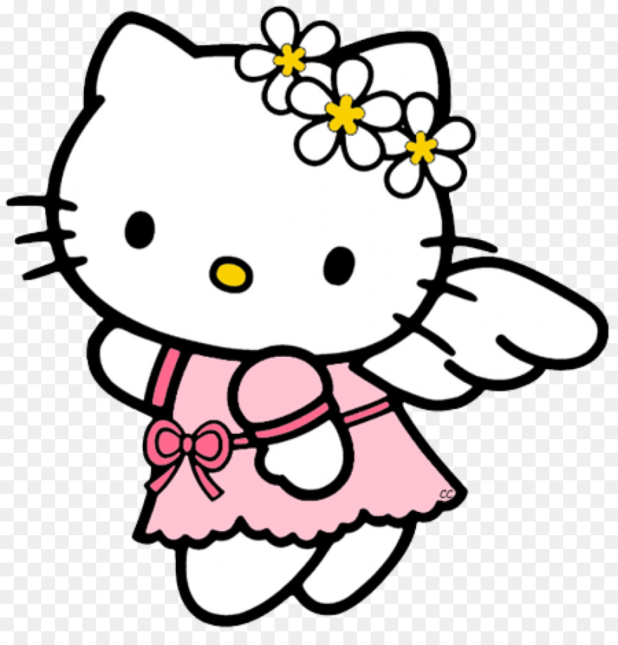 Hello Kitty Coloring Book Drawing Child Child Png Download 995