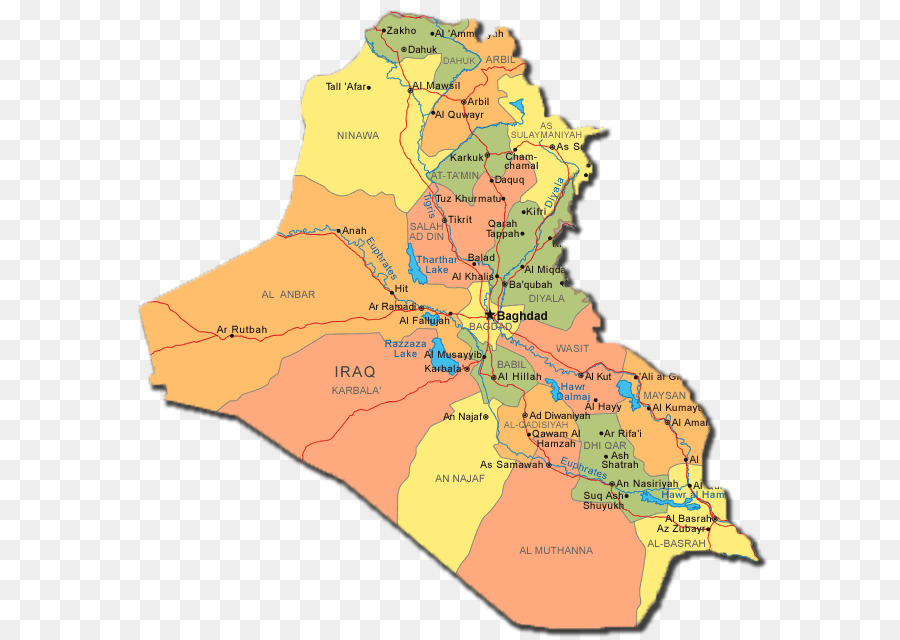 Mesopotamia World map Governorates of Iraq Ramadi - map iraq png ...