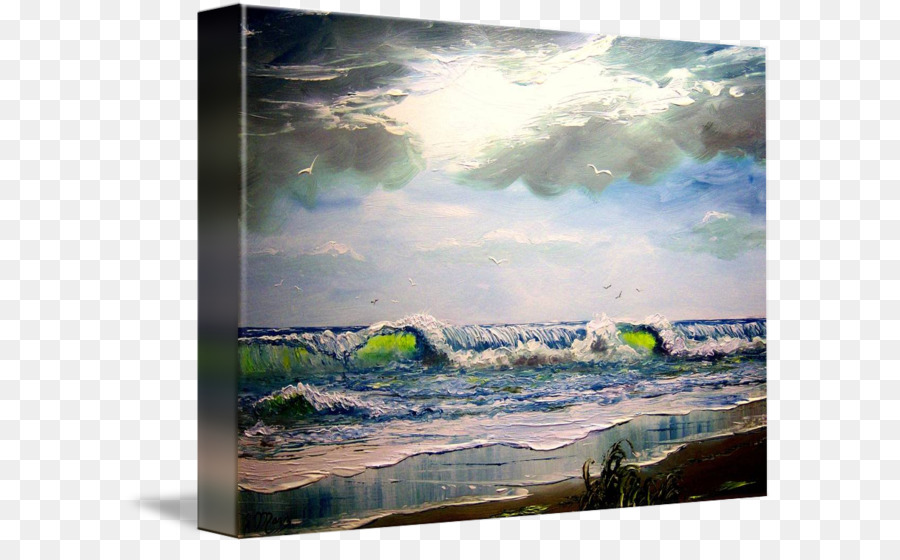 Painting Acrylic paint Picture Frames Sea - painting png download ...