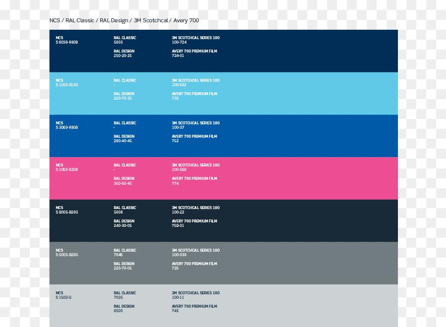 Ral Colour Standard Blue Color Chart Pantone Paint Png Download