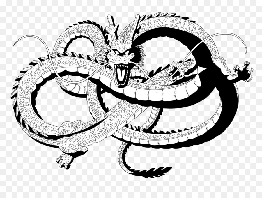 Shenron Goku Dragon Ball Clip Art Tattoo Star Png Download 1024