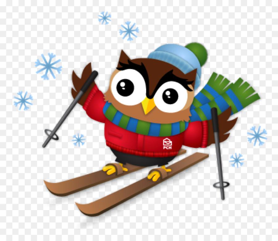 owl skiing snow clip art owl