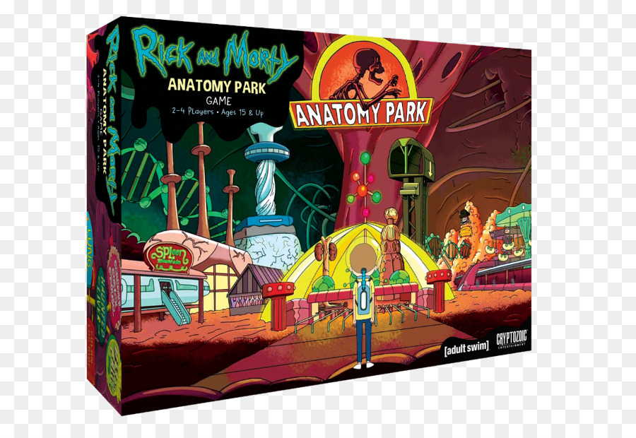Cryptozoic Entertainment Rick and Morty: Anatomy Park Board game ...