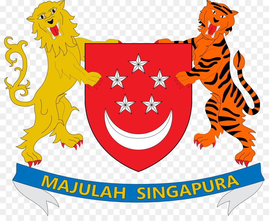Lambang Bendera Singapura Kepala Singa Simbol Asean Gambar Logo