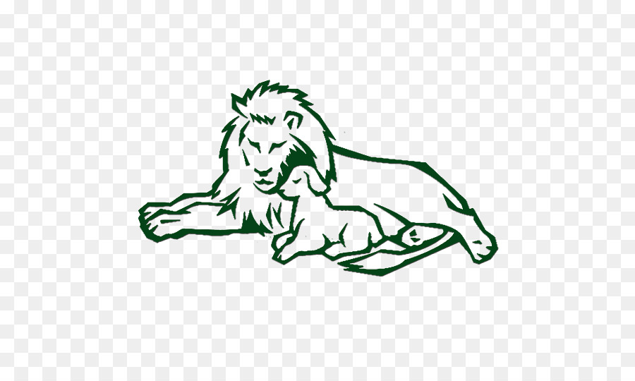 Lion And The Lamb Sheep Drawing Clip Art Lion Png Download 530