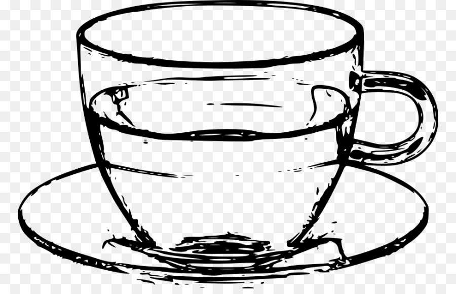 Saucer Coffee cup Teacup Clip art - cup clipart black and white png ...