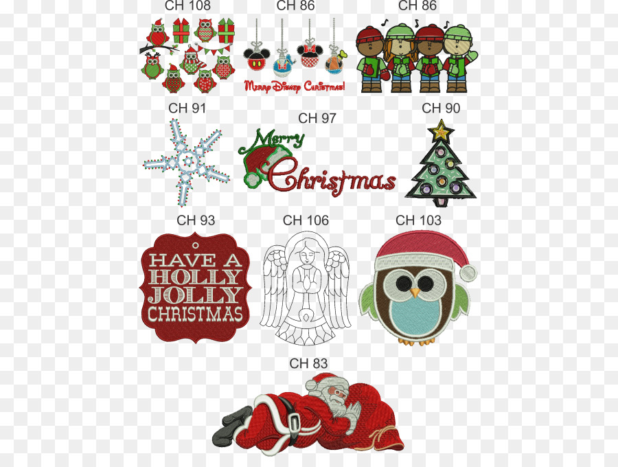 Christmas Tree Santa Claus Embroidery Pattern Embroidery Designs