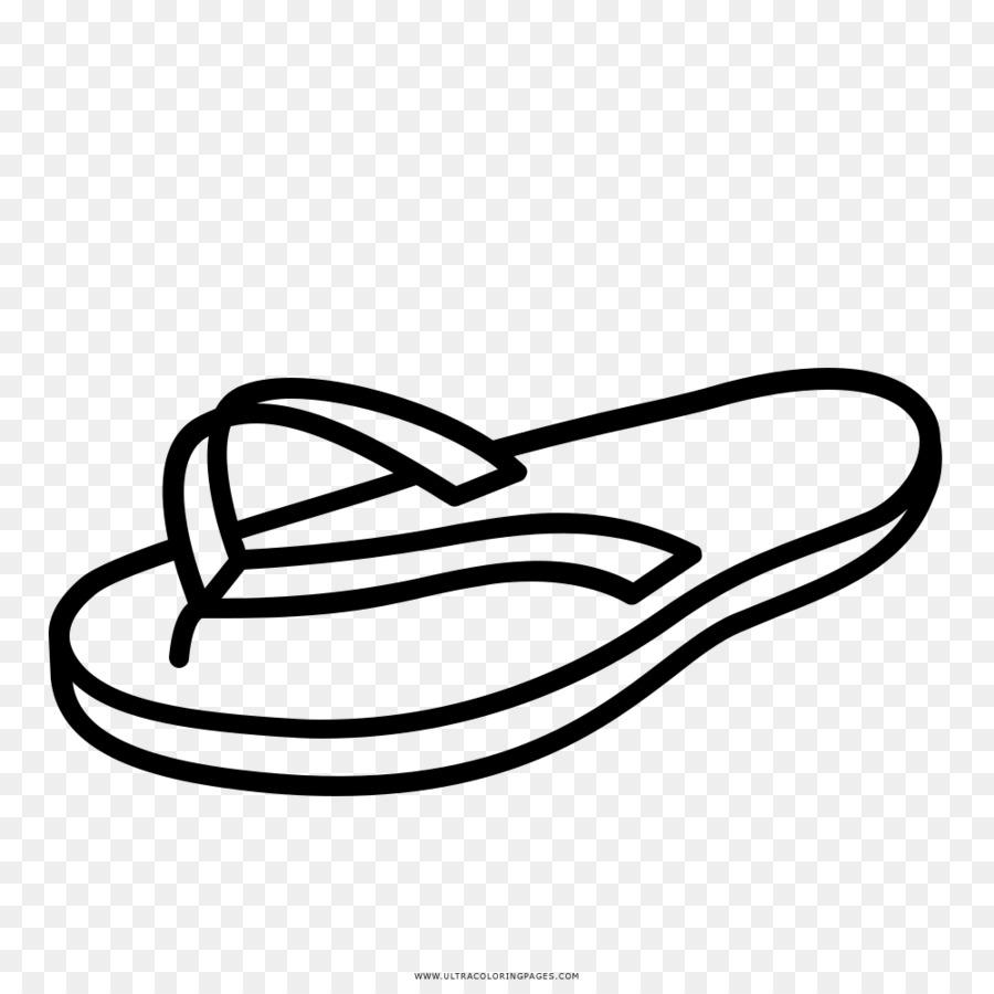 Libro para colorear de Niño Flip-flops Dibujo - el giro de página ...