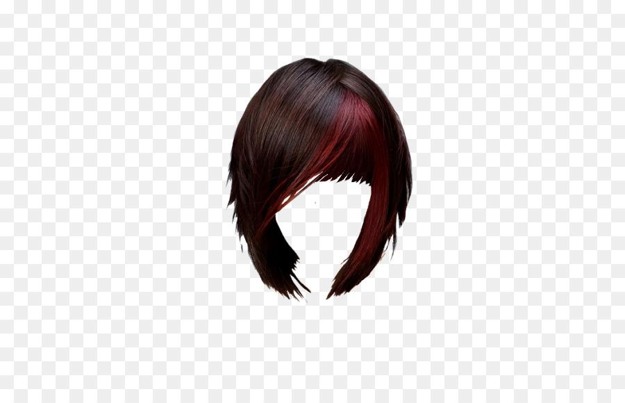 Black Hair Hair Coloring Maroon Brown Hair Hair Bangs Png Download